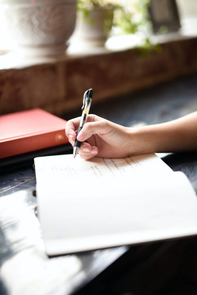 scrivere su un foglio